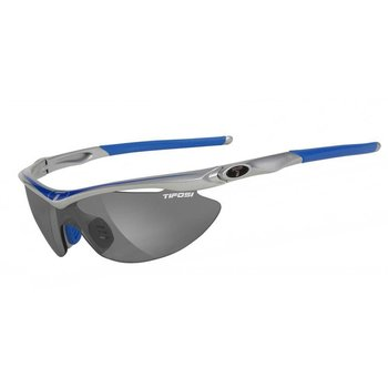 Tifosi Slip Race Blue Sunglasse - Smoke Clear Lens