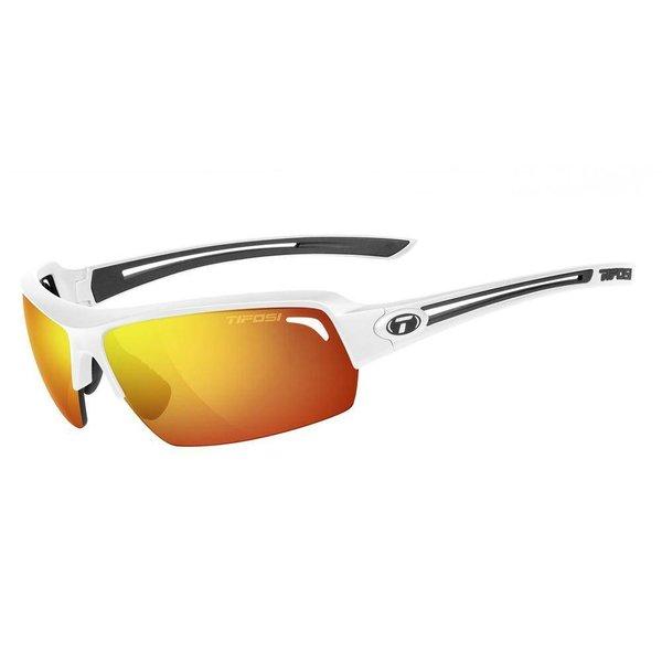 Tifosi Just Matte White Sunglasse - Smoke Red Lens