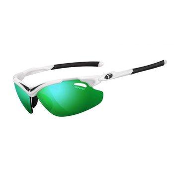 Tifosi Tyrant 2.0 Matte White Sunglasse - Clarion Grn Lens