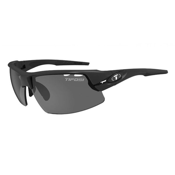 Tifosi Crit Matte Black Sunglasse -  Smoke Red Clear Lens