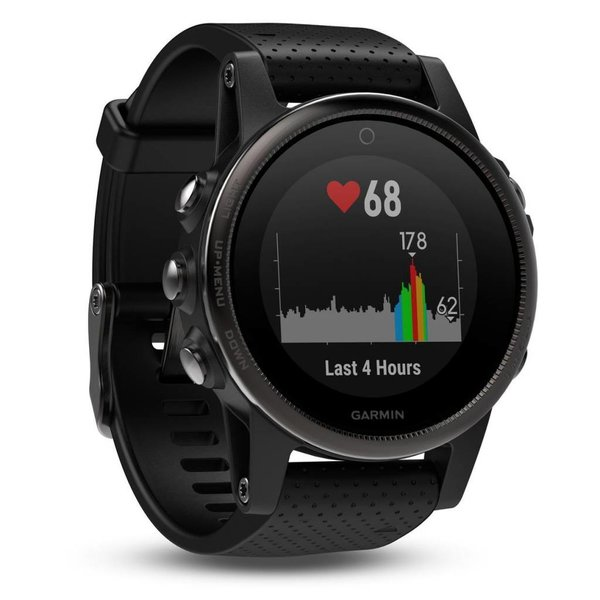 Garmin Fenix 5S Sapphire Black GPS Watch - Black Band