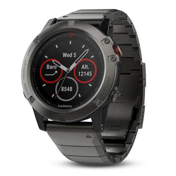 Garmin Fenix 5X Sapphire Slate Gray GPS Watch - Metal Band