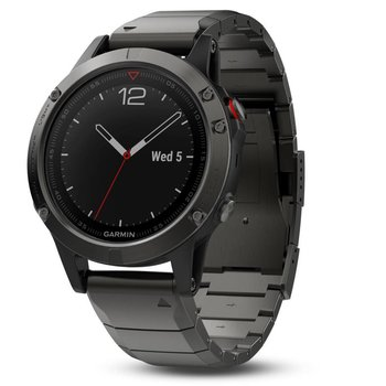 Garmin Fenix 5 Sapphire Gray GPS Watch - Metal Band