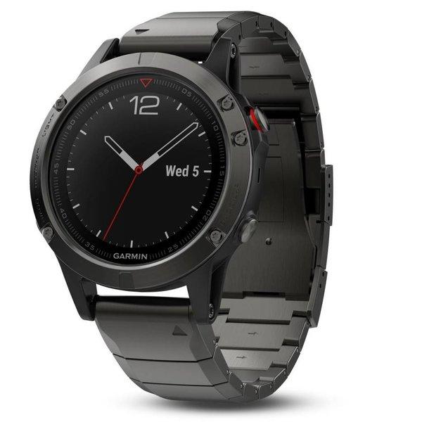 Garmin Fenix 5 Sapphire Gray GPS Watch - Metal Band