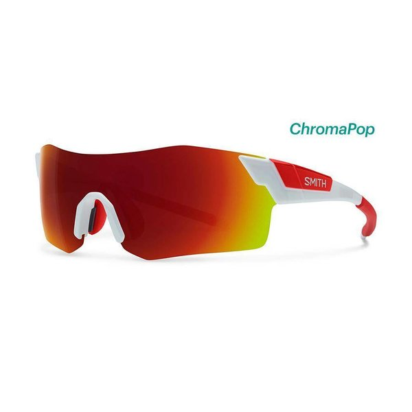 Smith Pivlock Arena-White/Red Sunglasses