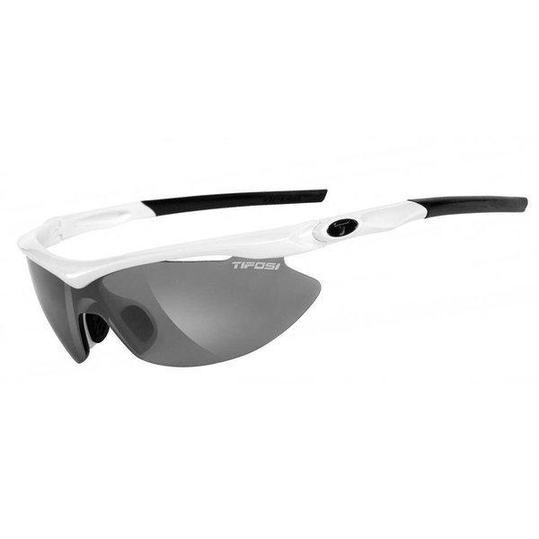Tifosi Slip Pearl White Sunglasse - Smoke Clear Lens
