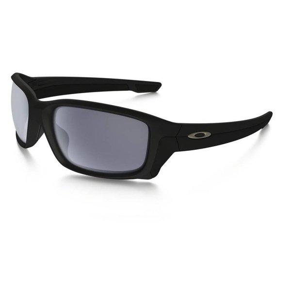 Oakley Straightlink Matte Black Sunglasses  - Grey