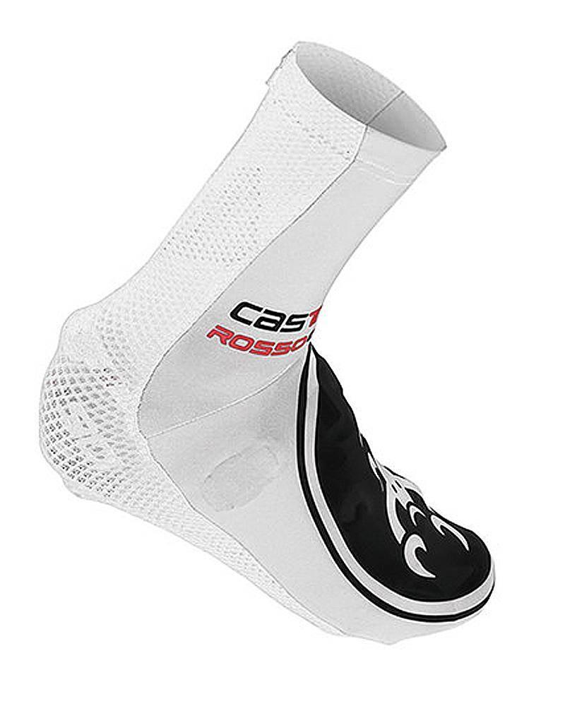 White Aero Cycling Shoe Covers