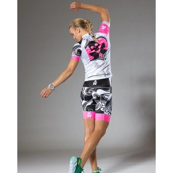 Betty Designs Womens Pink Signature Cycle Bib Shorts