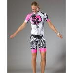 Betty Designs Womens Pink Signature Cycle Bib Shorts