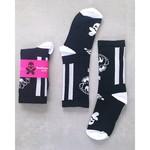 Betty Designs Black Floral Stripe Power Socks