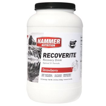 Hammer Nutrition Recoverite Recovery Strawberry Drink Mix - 32 Servings