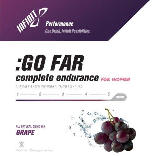 Infinit Go Far For Women Endurance Drink Mix - 18 Servings