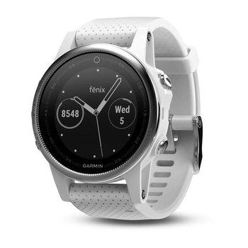 Garmin Fenix 5S Silver GPS Watch - White Band