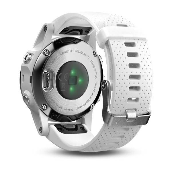 Garmin Fenix 5S Silver GPS Watch - White Band