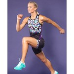 Betty Designs Kaleidoscope Racerback Tri Tank - Womens