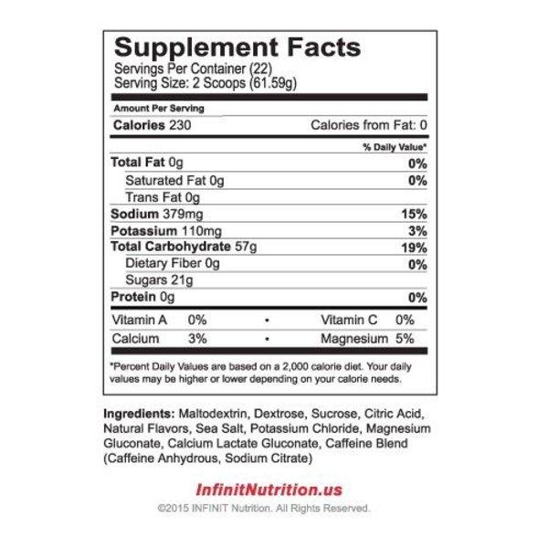 Infinit Jet Fuel Energy Drink Mix Bag - 22 Servings