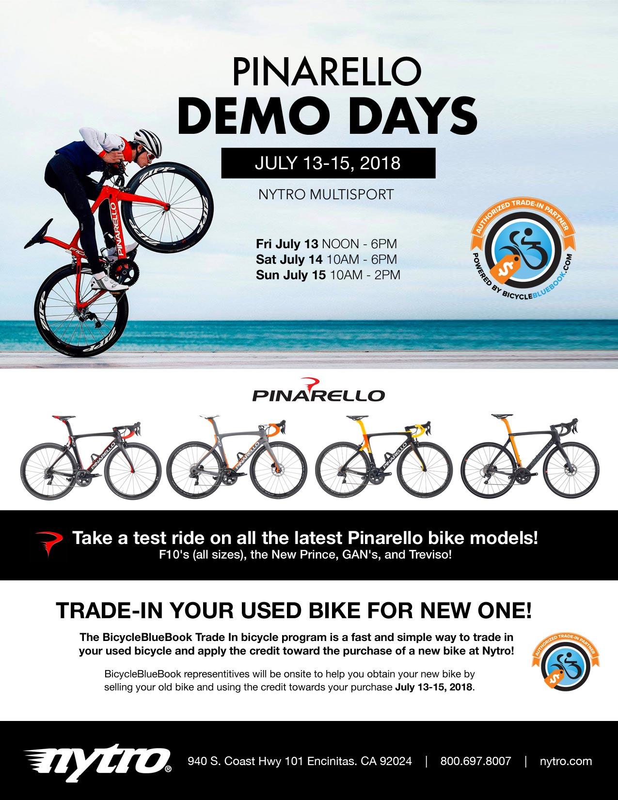Pinarello Bike Demo Days at Nytro