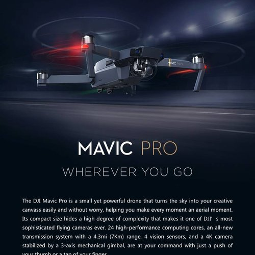 DJI Factory Refurbished Full Warranty Mavic Pro