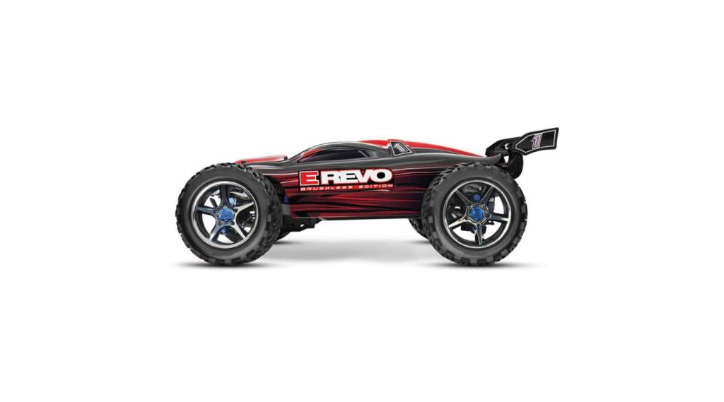 Traxxas 1/10 E-Revo 4WD Brushless RTR with MXL-6, TSM, TQi 2.4GHz, Red