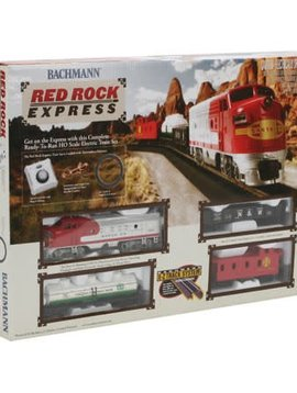 Bachman BAC00678 HO Red Rock Express Train Set, SF