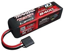 Traxxas 11.1V 8400mAh 3S 25C LiPo Battery, with TRA ID