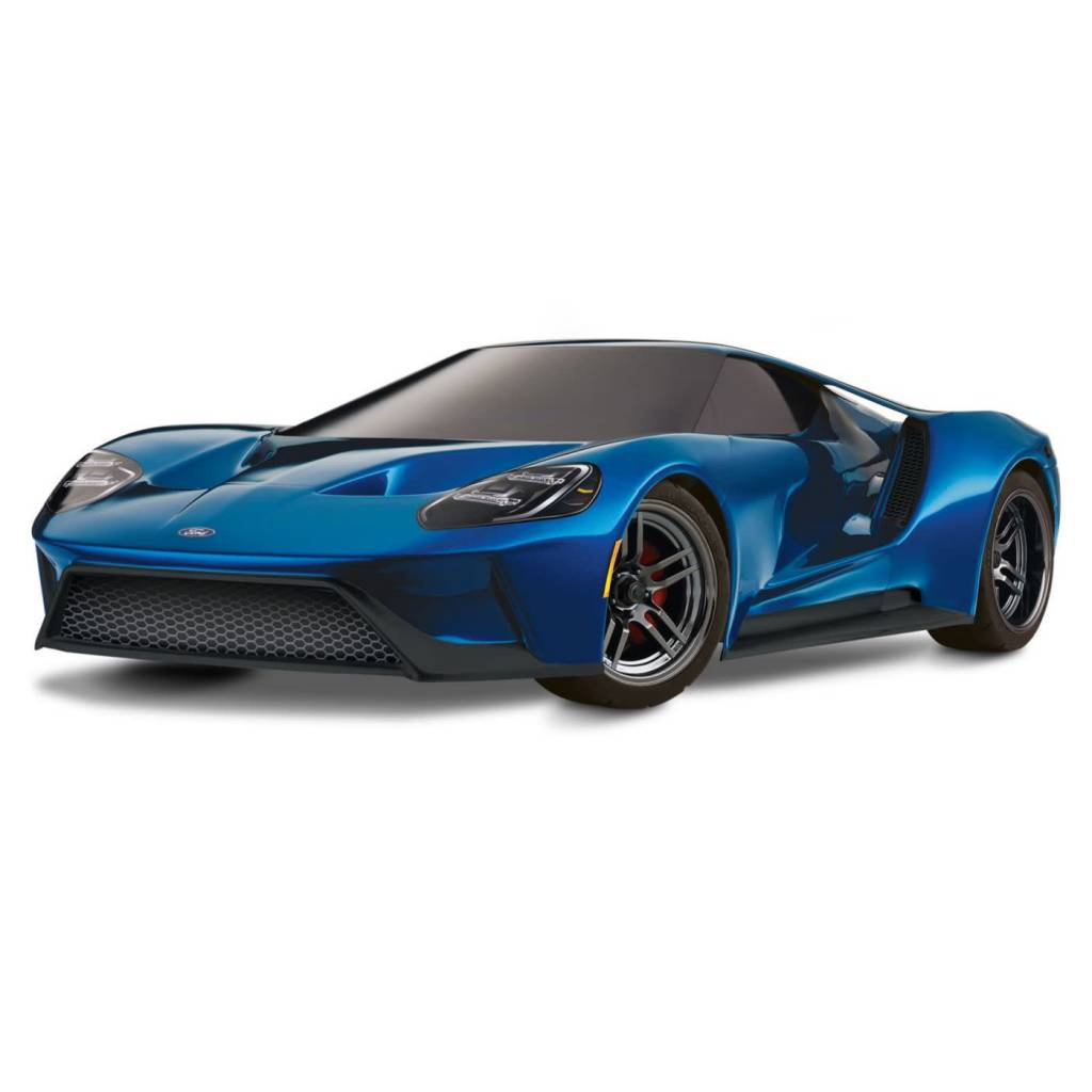 Traxxas 1/10 Scale Ford GT AWD Supercar RTR with XL-5 and TSM, Liquid Blue (TRA830564T2)