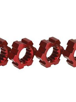 Traxxas TRA7756R Wheel Hubs Hex Aluminum Red-Anodized X-Maxx (4)