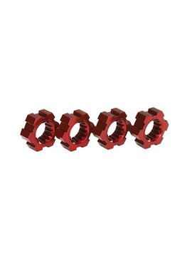 Traxxas TRA7756R Wheel Hubs Hex Aluminum Red-Anodized X-Maxx (4)