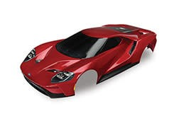 Traxxas Body, Ford GT®, red (painted, decals applied)
