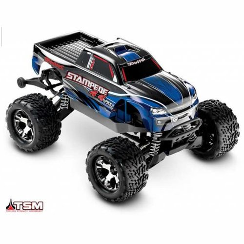 Traxxas 1/10 Stampede 4X4 VXL RTR with TSM, no On Board Audio Module, no Battery, no Charger, Silver