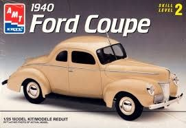 AMT 1/25 Model Kit 1940 Ford Coupe Skill Level 2