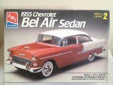AMT 1/25 Model Kit 1955 Chevrolet Bel Air Sedan Skill 2 (#6771)