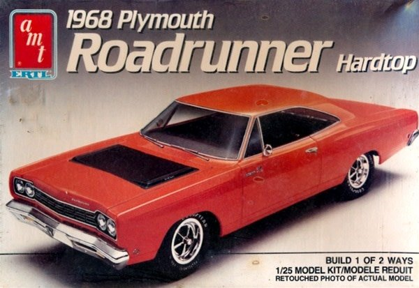 AMT 1/25 Model Kit 1968 Plymouth Roadrunner Hardtop (#6515)