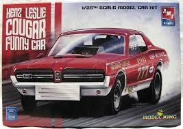 AMT AMT #21786P KenZ&Leslie Cougar Funny Car 1/25th Scale Model Car Kit