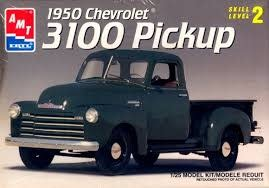 AMT Amt #6437 1950 Chevrolet 3100 Pickup 1/25 scale model kit