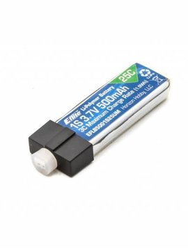 E-flite EFLB5001S25UM 500mAh 1S 3.7V 25C LiPo High Current UMX Connector