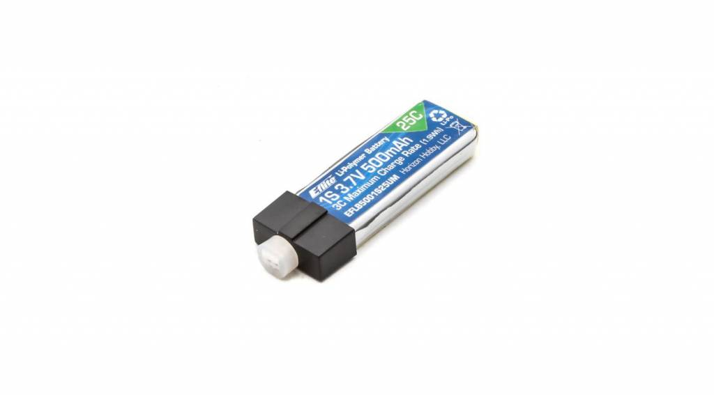 E-flite EFLB5001S25UM 500mAh 1S 3.7V 25C LiPo High Current UMX Connector