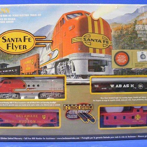 Bachman BAC00647 HO Santa Fe Flyer Train Set, SF