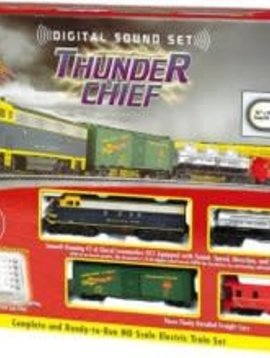 Bachman BAC00826 HO Thunder Chief Train Set w/EZ Command Sound