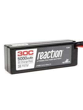 Dynamite DYN9007T Reaction 11.1V 5000mAh 3S 30C LiPo Hard Case: TRA