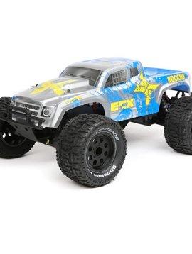 ECX ECX03331T1 1/10 2wd Ruckus Monster Truck BD,Lipo:Slvr/Blu RTR