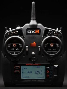 spektrum SPMR8000 DX8 Transmitter Only Mode 2