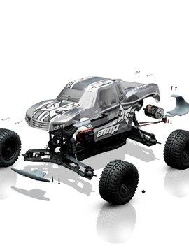 ECX ECX03034 1/10 AMP MT 2WD Monster Truck BTD Kit with Unpainted Body