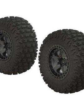 Arrma AR550043 dBoots Fortress SC Tire Set Glued Blk Chrm (2)