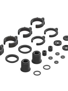 ARA AR330451 Composite Shock Parts/O-Ring Set (2 Shocks)