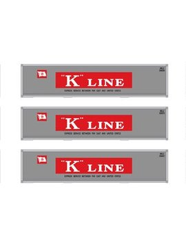 Atherns ATH12172 HO RTR 40' Smooth Containers, K-Line (3)