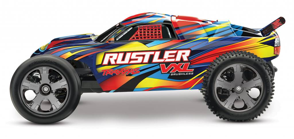 Traxxas Rustler VXL 1 10 Scale Stadium Truck No Battery