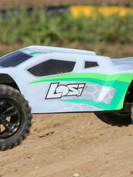 Losi 1/10 TENACITY-T 4WD Truggy Brushless RTR with AVC, White/Green (LOS03011T1)