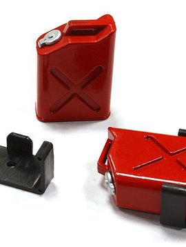 INT Jerry Can Fuel Tank (2), Red; 1/10 Scale Crawler